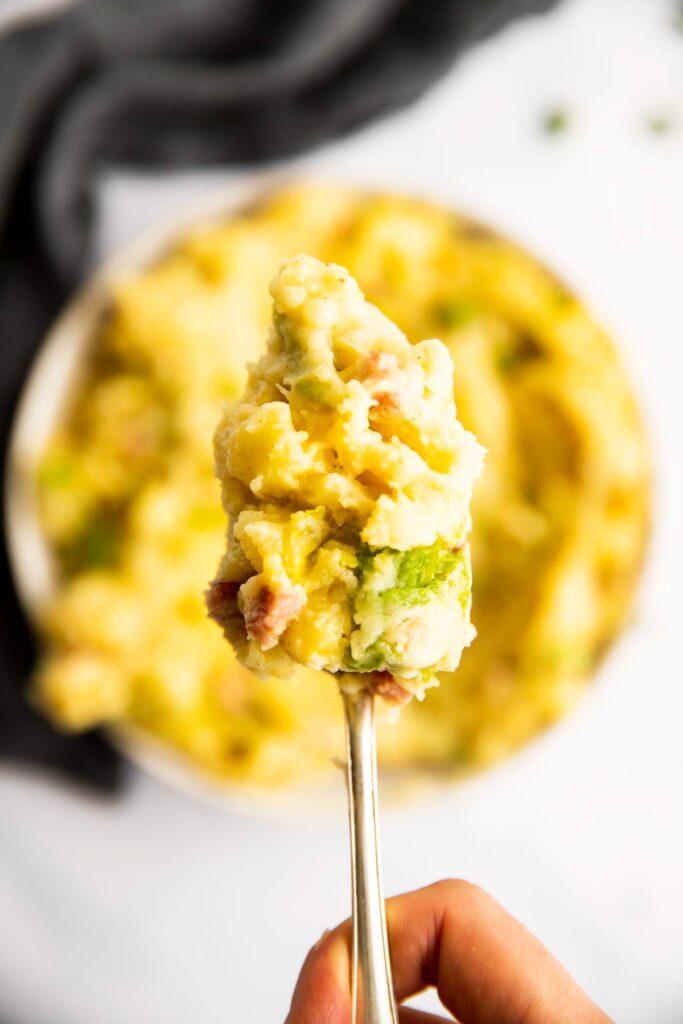 Löffel mit irischem Kartoffelstock von Oben