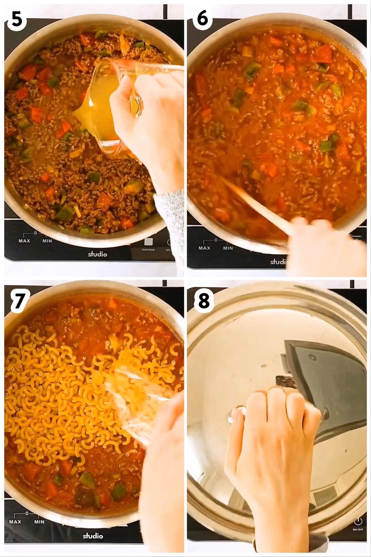 Bildanleitung zum Kochen einer One Pot Pasta
