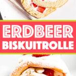 Erdbeer Biskuitrolle Bild Pin