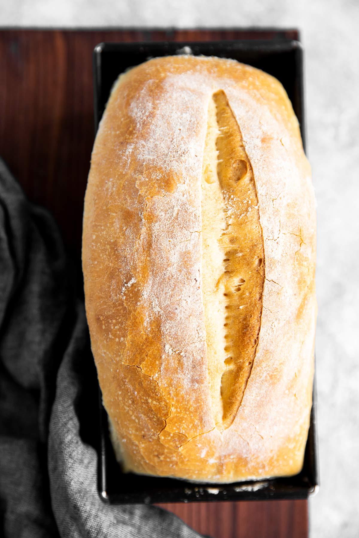 hausgemachtes Brot von Oben