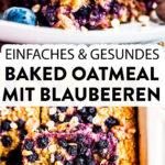 Baked Oatmeal mit Blaubeeren Pin 1