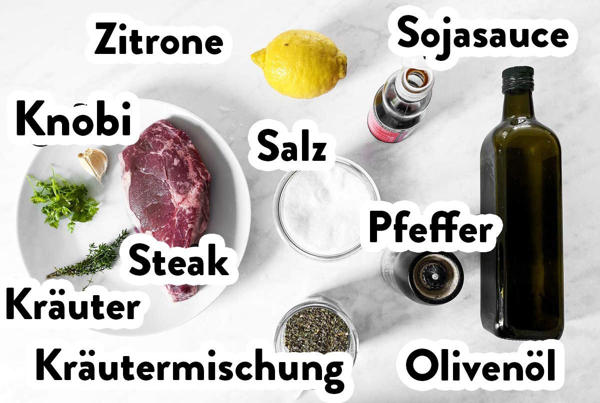 Zutaten für Steak Marinade